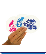 Small Paper Stickers - 1 Colour