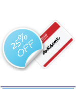 Large Vinyl Weatherproof Stickers - 1 Colour