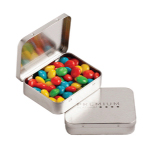 Rectangle Hinge Tin Filled with Chewy Fruits 65G