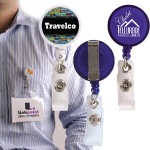 Retractable Name Badge Holders with Metal Clips