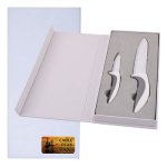 Set of 2 Ceramic Blade Knives In White Gift Boxes