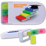 Set of 3 Retractable Highlight Wax Markers in White Cases