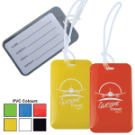 Shiny PVC Luggage Tags with Loops