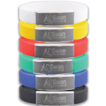 Silicone Wrist Bands with Metal Plates