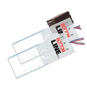 Clip and Ruler Bookmark Magnifier