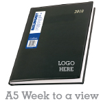 Corporate Diary A5 - Week to a view