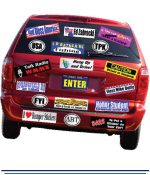 Small Weatherproof Bumper Stickers - 1 Colour