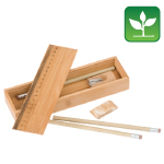 Eco Bamboo Pencil Case Sets