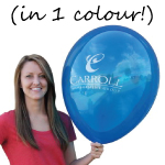 Printed Balloon - Jumbo 1 colour print