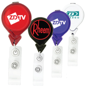Tear Drop Shaped Retractable Badge Holders