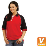 Tri-Colour Raglan Polo Shirt