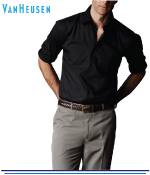 Van Heusen Herringbone Stripe European Fit Shirts