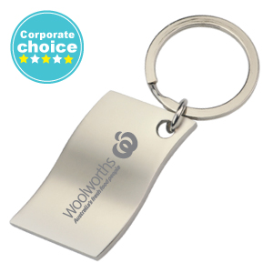 Wave Metal Keyrings