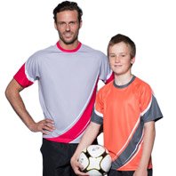 Sublimated Clothing Shot of Man and Boy