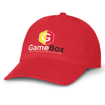 Red Promotional Cap with Print decoration