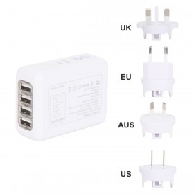4 Port USB Travel Adapters