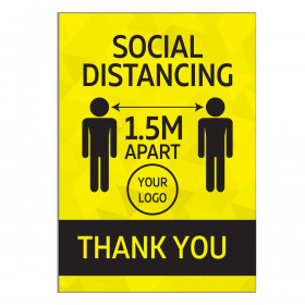 A4 Social Distancing Wall Stickers