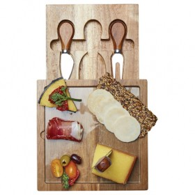 Bilbao Glass Cheese & Knife Sets
