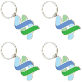 Colour Fill Metal Keyrings