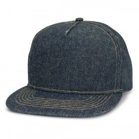 Denim Flat Peak Caps