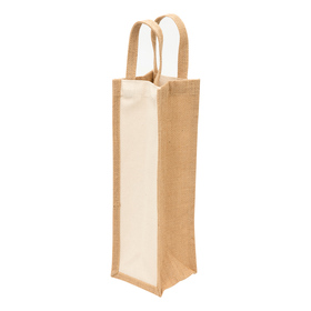 Eco Jute Single Wine Bags