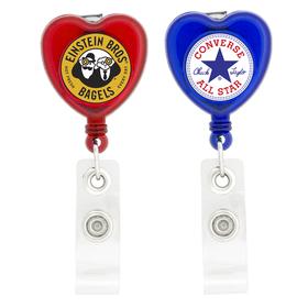 Heart Retractable Badge Holders