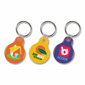 Flexi Resin Round Keyrings