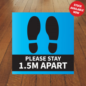 Floor Sticker Standard Blue