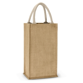 Jute Double Wine Carriers