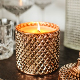 Large Retro Cut Glass Candles