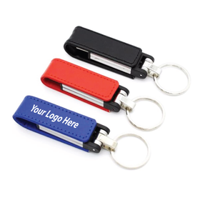 Leather Flip Flash Drives