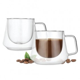 Lujo Glass Coffee Cups