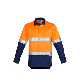 Mens Hi Vis Spliced Industrial Shirts