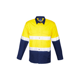 Mens Rugged Hi Vis Spliced Shirts