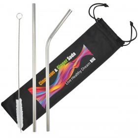 Metal Straws in Pouches
