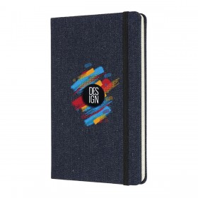 Moleskine Large Denim Notebook - Ruled