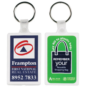 Rectangular Soft PVC Keyrings
