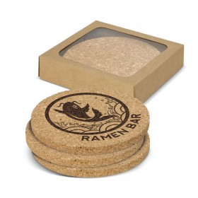 Round Cork Coasters (Set of 4)