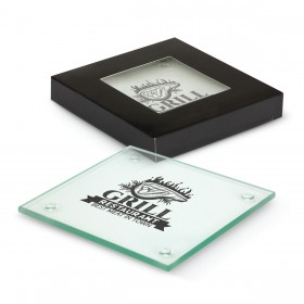 Square Glass Coasters (Set of 2)