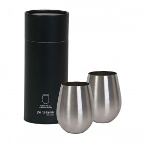 Stemless Stainless Steel Wine Glass Sets