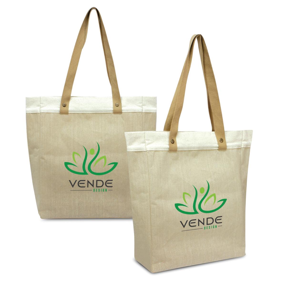 Fashionable Juco Tote Bags Printed