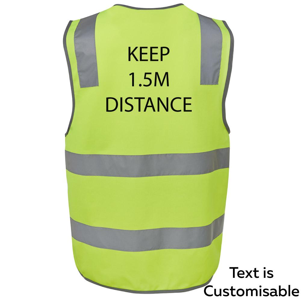 High Visabilty Hi Viz Keep Your Social Distance Polite Reminder To ...