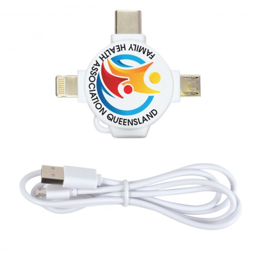 1M Combination Charging Cables with print