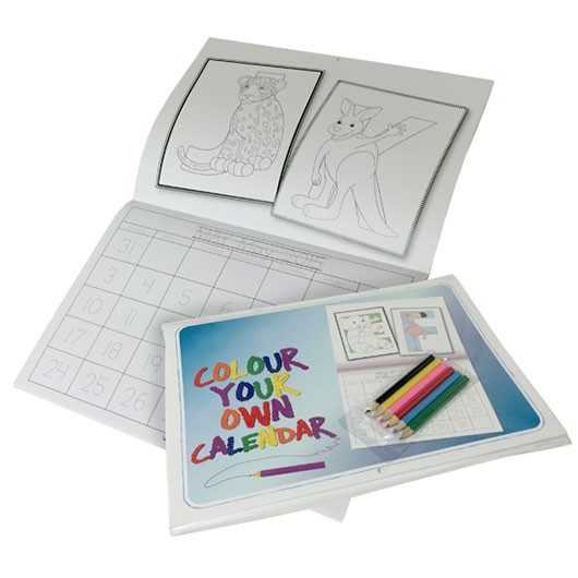 Promotional A4 Colouring In Calendars
