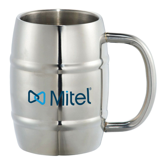 Metal Barrel Mugs Printed