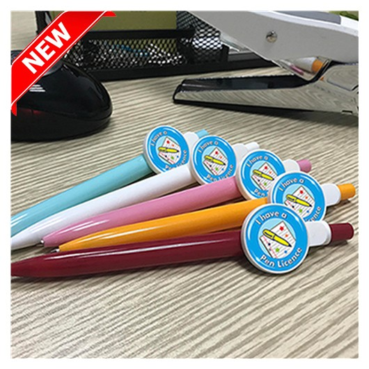 Promotional Button Badge Pens