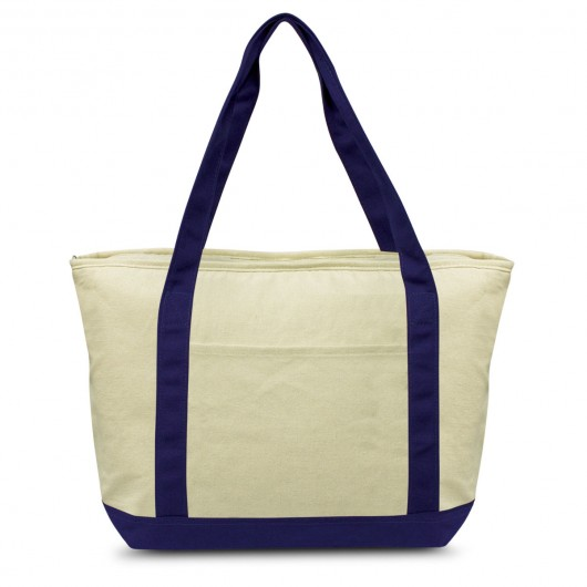 Navy Calico Cooler Bags