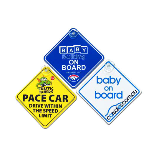 Promotional baby on board sign