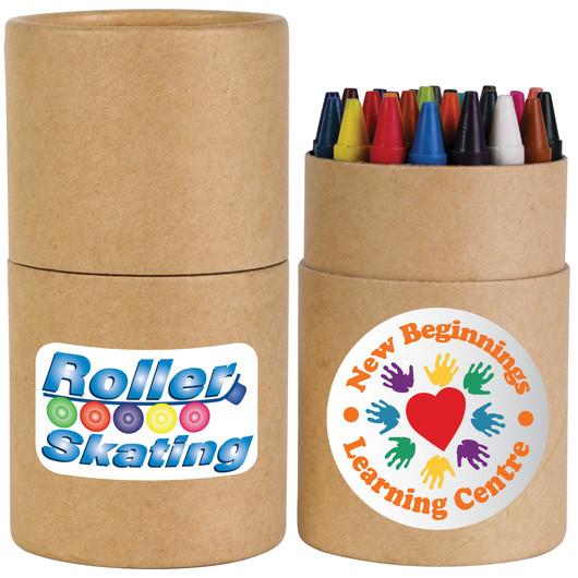 Cardboard Tube Crayons