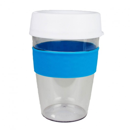 White Blue Carry Cups